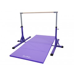 Jr Training Gymnastic Bar - 3ft to 5ft (with Panel Mat Combo) Acrobatic