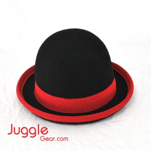 Nils Poll Round Manipulator Hats - Black/Red Props Juggling & Spinning