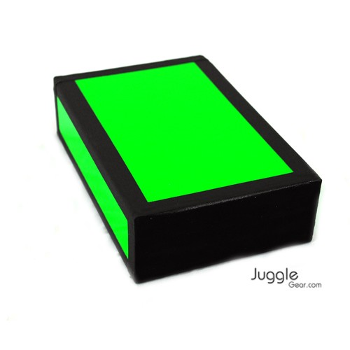 JG Cigar Box - Neon Green Props Juggling & Spinning