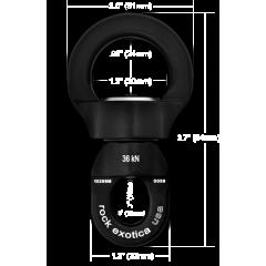 Rotator Round Swivel (Small) Aerial