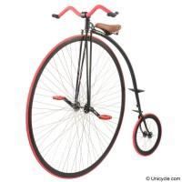 "Penny Farthing 54"" UDC Mk3 - Black/Red Penny Farthings"