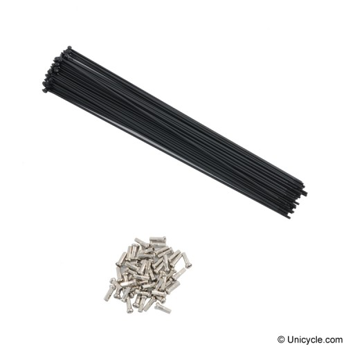 Spokes - 231mm, 14Gauge, Black Spokes