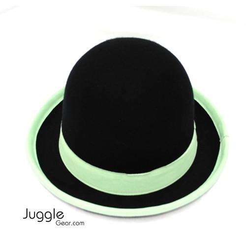 Nils Poll Round Manipulator Hats - Black/Green Props Juggling & Spinning