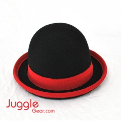 Nils Poll Round Manipulator Hats - Black/Red Props Juggling & Spinning