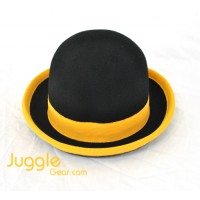 Nils Poll Round Manipulator Hats - Black/Yellow Props Juggling & Spinning