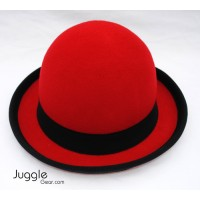 Nils Poll Round Manipulator Hats - Red/Black Props Juggling & Spinning