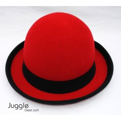 Nils Poll Round Manipulator Hats - Red/Black Props Juggling & Spinning