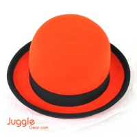 Nils Poll Round Manipulator Hats - Orange/Black Props Juggling & Spinning