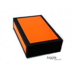 JG Cigar Box - Neon Orange Props Juggling & Spinning