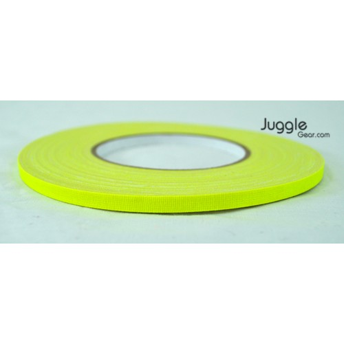 Gaffer Tape 1/4 inch - Flo Yellow Hula Hoops