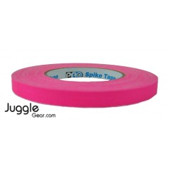 Gaffer Tape 1/2 inch - Fluor Pink Hula Hoops