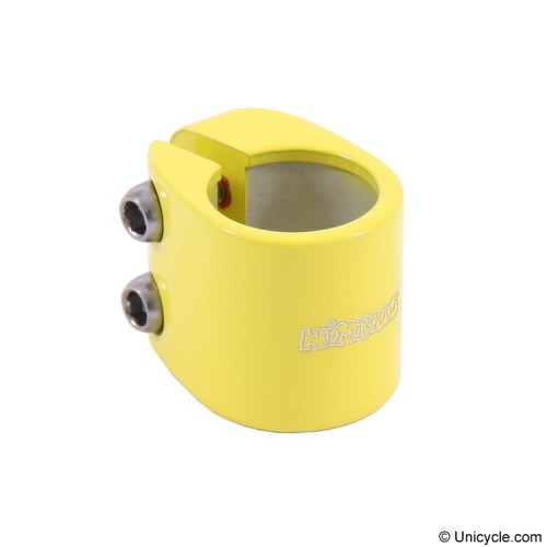 Nimbus Double Bolt Clamps 28.6mm Yellow Seat Post Clamps